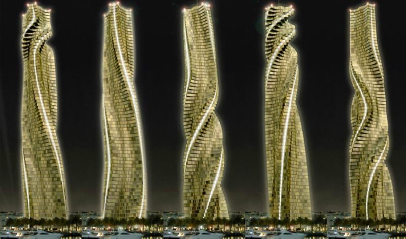 arquitectura, arquitecto, diseño, design, Dynamic Architecture, arquitectura dinámica, David Fisher, torre, giratoria, Dubai, futurista, futuro, rascacielos, 360º