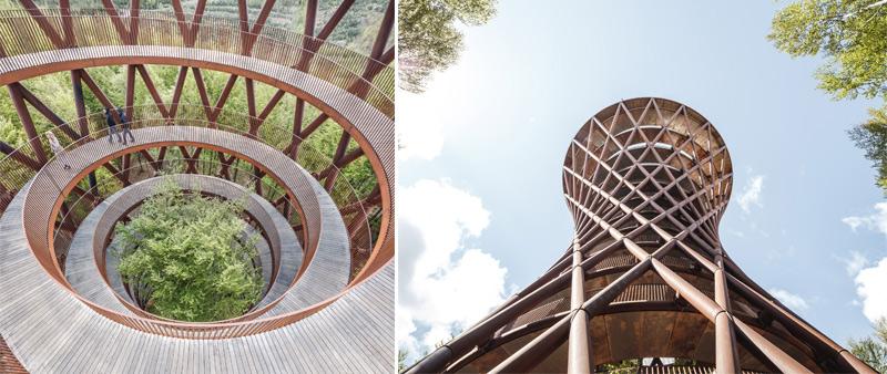arquitectura, arquitecto, diseño, design, Dinamarca, EFFEKT, naturaleza, torre, parque, bosque, Camp Adventure Park, arquitectura sensorial