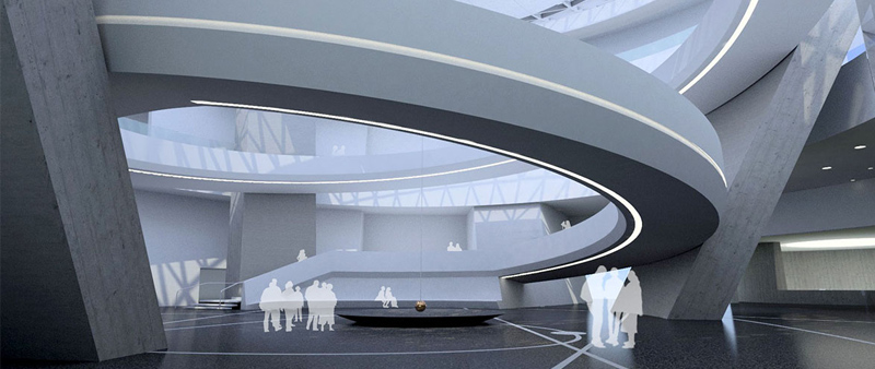 arquitectura, arquitecto, diseño, design, ATCHAIN, Lingxiao Xie, Ennead architects, Shanghai, China, planetario, museo, astronomía, Shanghai Planetarium