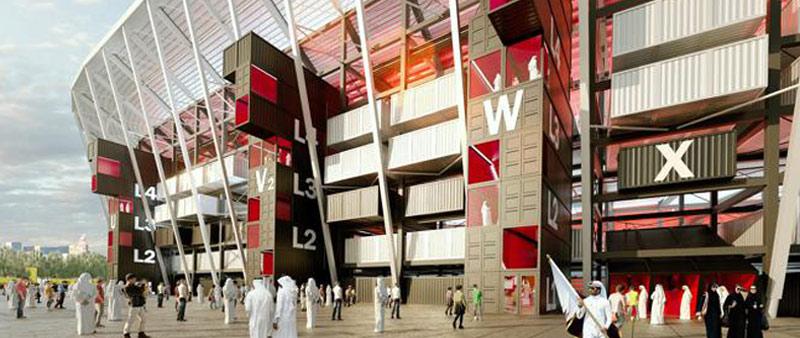 arquitectura, arquitecto, diseño, design, estadio, futbol,  Fenwick Iribarren, Qatar, Mundial, FIFA, Ras Abu Aboud, Doha, sostenible, sostenibilidad