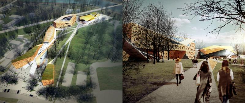 arquitectura, arquitecto, diseño, design, academia de música, escuela, educación, musical, FAAB Architektura, naturaleza, luz natural, purificador de aire, Polonia, Cracovia, Europa, Green City Solutions