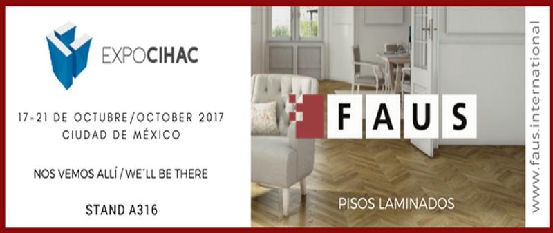 arquitectura, arquitecto, diseño, design, FAUS International Flooring, Expo Cihac 2017, México, Latinoámerica, centro de convenciones y exposiciones Citibanamex, revestimiento, exposición, feria, profesional