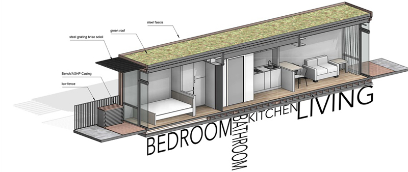 arquitectura, arquitecto, diseño, design, FBM Architects, Fraser Brown MacKenna Architects, Inglaterra, mini vivienda, micro hogar, casa, apartamento, estudio, Aylesbury, contenedor envío, container