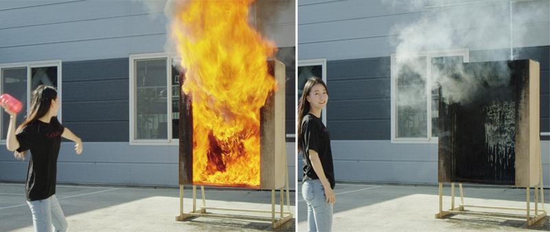 arquitecturayempresa, diseño, design, Corea del Sur, extintor, contraincendios, Samsung Fire & Marine Insurance, Samsung, florero, fuego, diseño de producto