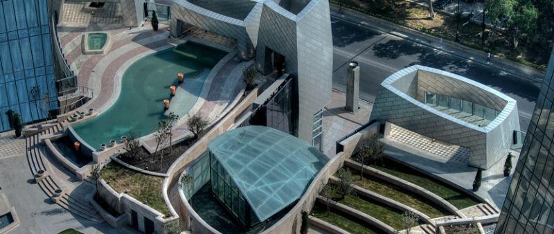 arquitectura, arquitecto, diseño, design, Baku, Flame Towers, Azerbaiyán, HOK Architects, projecto residencial, lujo, oficinas, centro comercial, hotel, turismo, Traxon Technologies, iluminación, ciudad, urbanización