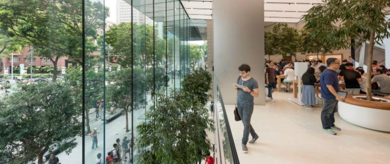 arquitecto, arquitectura, diseño, design, Apple store, Apple, tienda, tecnología, comunicaciones, Foster + Partners  , Singapur, Asia, sostenible, sostenibilidad, energía renovable, verde
