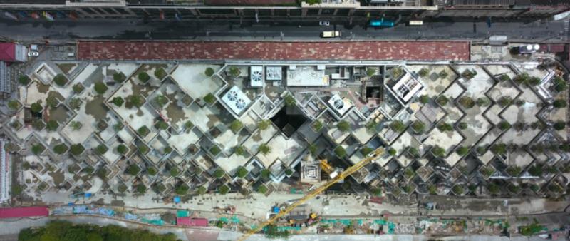 arquitectura, arquitecto, diseño, design, verde, sostenible, ambiental, Shanghai, China, Heatherwick Studio, árbol, jardín, cubierta verde