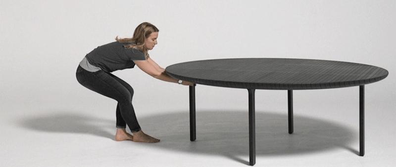 arquitectura, arquitecto, diseño, design, Friction Table, Heatherwick Studio, Londres, estudio, mesa, papel, resina, sostenible