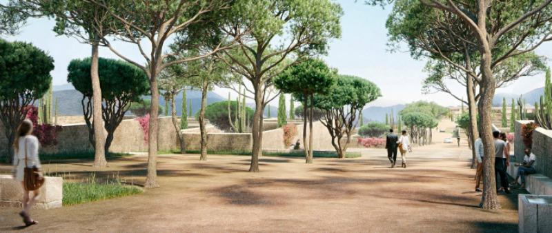 arquitectura, arquitecto, diseño, design, Herzog & de Meuron, Los Ángeles, Estados Unidos, América, California, campus, monasterio, Berggruen Institute, montaña, naturaleza, vegetación, bioarquitectura, ecología