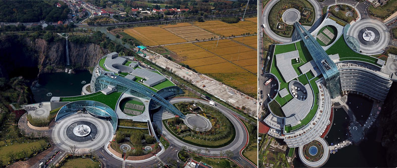 arquitectura y empresa, arquitecto, Jade + QA, Martin Jochman, Blakstation & Kevin, cantera, hotel, China, Shanghai, Shimao Wonderland Intercontinental