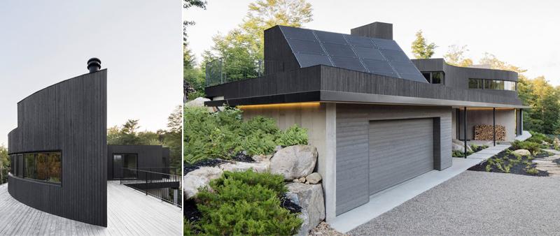 arquitectura, arquitecto, diseño, design, Alain Carle Architecte, Adrien Williams fotografía, sostenible, sostenibilidad, Canadá, Montreal, montañas de Quebec, bosque, vivienda, residencial, casa, ecología, ecológica