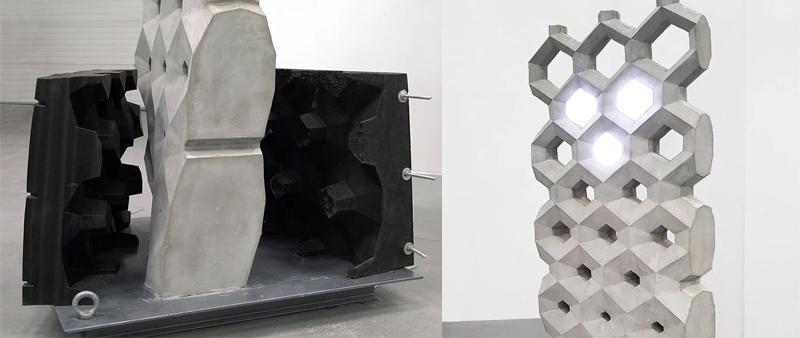 arquitectura, arquitecto, diseño, design, arquitectura y empresa, Bigrep, impresión 3D, muro sensorial, hormigón