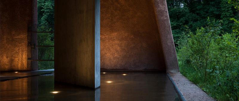 arquitectura y empresa, arquitecto, diseño, design, planta de tratamiento de aguas, Suiza, Oppenheim Architecture, Börje Müller, Muttenz, instalaciones agua