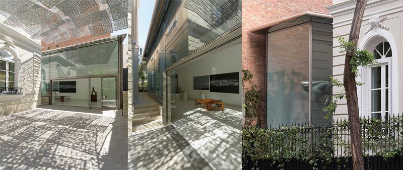 arquitectura, arquitecto, diseño, design, The Norman Foster Foundation, Madrid, España, pabellón, vidrio, patio, exposiciones, museo, Guillermo Rodríguez fotógrafo