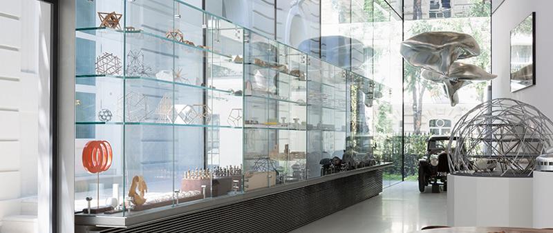 arquitectura, arquitecto, diseño, design, The Norman Foster Foundation, Madrid, España, pabellón, vidrio, patio, exposiciones, museo, Guillermo Rodríguez fotógrafo, Cristina Iglesias
