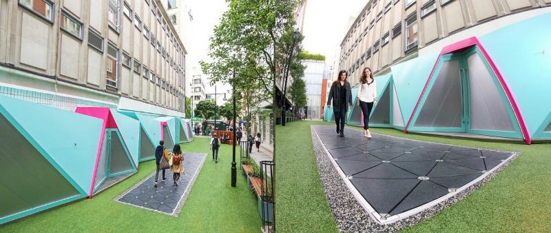 arquitectura, arquitecto, diseño, design, pavimento, energía renovable, Pavegen, Londres, Cambridge, Inglaterra, energía verde, energía, limpia, caminar, pisadas, urbanismo, acera, calle