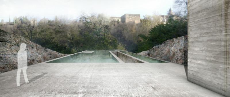 arquitectura, arquitecto, diseño, design, PFC, concurso, arquitectura y empresa, Centro Arqueológico en la Alhambra, Granada, Agustín Gor, proyecto final de carrera, primer clasificado, 1º puesto, ganador