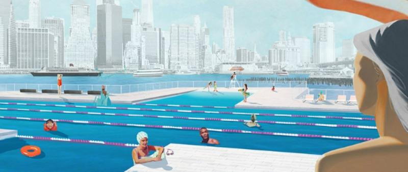 arquitectura, arquitecto, diseño, design, USA, Estados Unidos, Nueva York, piscina, +Pool, sostenible, HEINEKEN USA, PlayLab Inc, Family New York, TRIBECA STUDIOS, flotante, filtrado aguas, ecología, espacio público