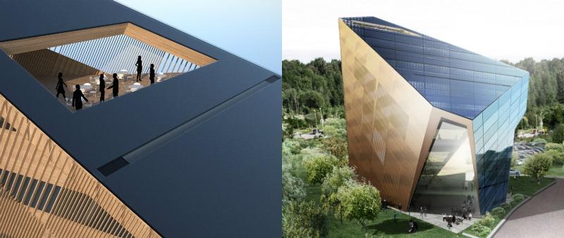 arquitectura, arquitecto, diseño, design, sostenible, sostenibilidad, energía renovable, verde, Noruega, Powerhouse Telemark, Snøhetta, Porsgrunn