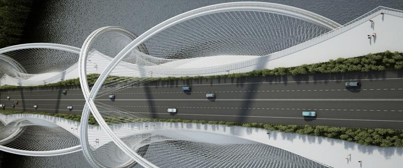 arquitectura, arquitecto, diseño, design, puente, china, Pekín, Olimpiadas, Juegos Olímpicos invierno, 2022, Penda ARCHITECTS, Arup ingeniería