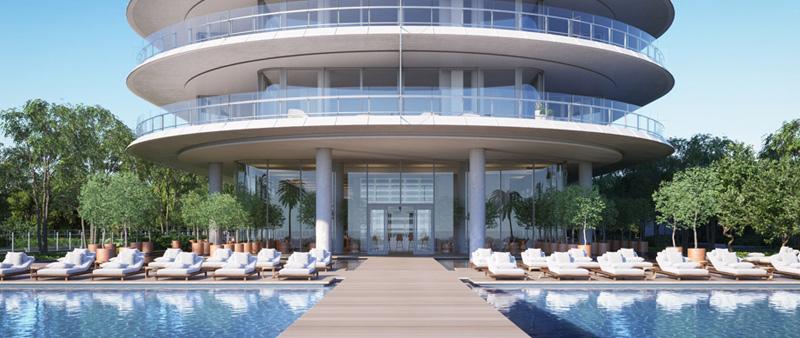 arquitectura, arquitecto, diseño, design, Renzo Piano, Miami, USA, EEUU, Estados Unidos, residencial, edificio, viviendas, villas, apartamentos, torre, cristal, mar, océano, playa, Eighty Seven Park , costa