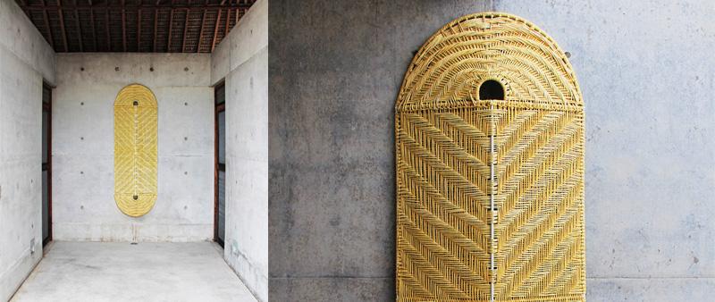 arquitectura, arquitecto, diseño, design, Mexico Fashion Week, Casa Wabi, Richoz, Le Moigne, Tadao Ando, palma, tejido vegetal, lámparas, separadores de ambientes