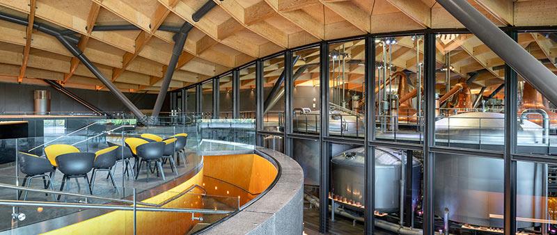 arquitectura, arquitecto, diseño, design, Escocia, Rogers Stirk Harbour + Partners, Joas Souza, Macallan, whisky, destilería, paisaje, madera, piedra