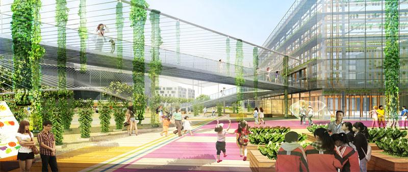 arquitectura, arquitecto, diseño, design, Sasaki, China, Shangai, Estados unidos, agricultura, invernadero, urbanismo, verde, sostenibilidad, agricultura vertical, sistemas hidropónicos, acuaponia