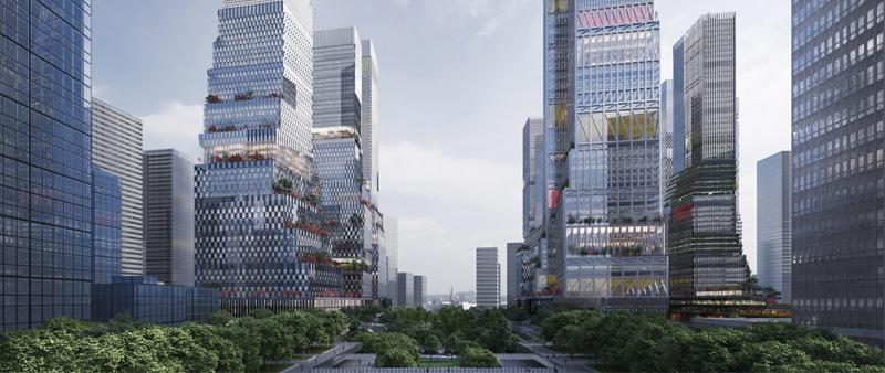 arquitectura, arquitecto, diseño, design, Mecanoo Architecten, Holanda, China, concurso de arquitectura, rascacielos, complejo residencial, estación de tren, Estación del Norte Shenzhen, oficinas, distrito urbano, distrito de negocios, hotel, Shenzhen
