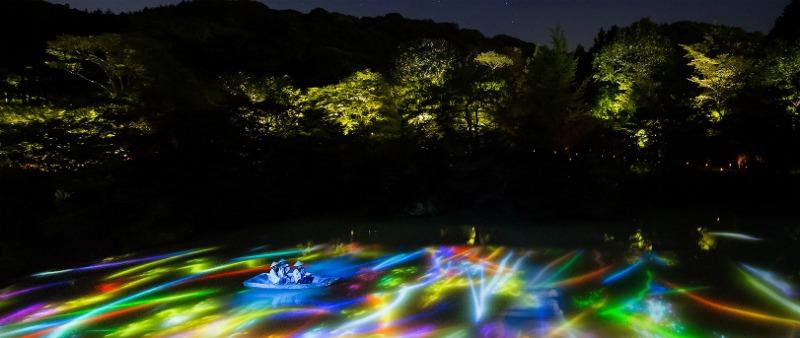 arquitectura, arquitecto, diseño, design, arte, iluminación, luz, naturaleza, parque, jardín, Japón, TeamLab, Mifuneyama Rakuen, A Forest Where Gods Live, Shiseido