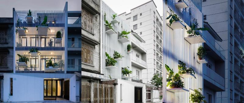 arquitectura, arquitecto, diseño, design, Vietnam, TH house, DANstudio, Quang Dam, Hanoi, fachada, verde, vegetación, iluminación, aluminio, interiorismo, diseño interior