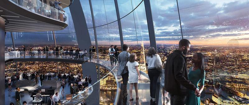 arquitectura, arquitecto, diseño, design, Foster + Partners, Londres, torre, rascacielos, The Tulip, mirador, DBOX, arquitectura y empresa