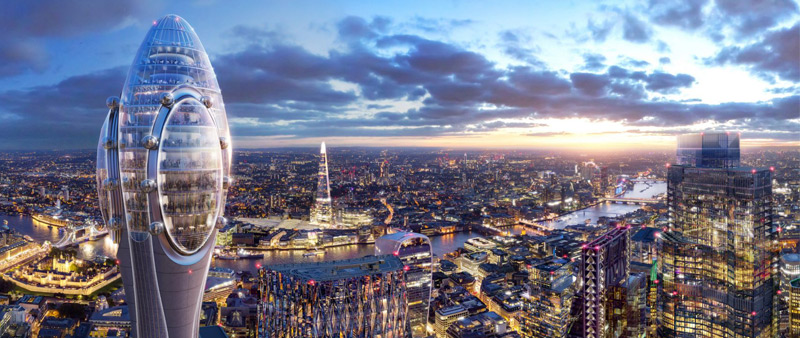 arquitectura, arquitecto, diseño, design, The Tulip, Londres, Inglaterra, torre, London, Norman Foster, Foster + Partners, DBOX