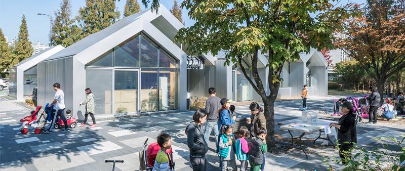 arquitectura, arquitecto, diseño, design, Hannae Forest of Wisdom, Unsangdong Architects, centro comunitario, educación, sociedad, comunidad, vecindario, espacio verde, Corea, Seúl