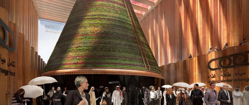 arquitectura, arquitecto, diseño, design, V8 Architects, Holanda, Paises Bajos, Expo 2020, Dubai, pabellón, biotopo, sistema climático cerrado, Expomobilia, Kossmann Dejong, Witteveen + Bos