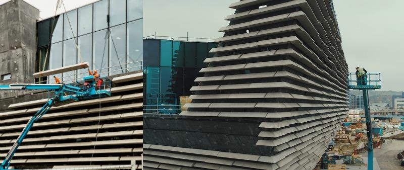 arquitectura, arquitecto, diseño, design, ross fraser mclean, Kengo Kuma and Associates, Rapid Visual Media, Museo de Diseño V&A Dundee, Escocia, Tay River, Río Tay, museum