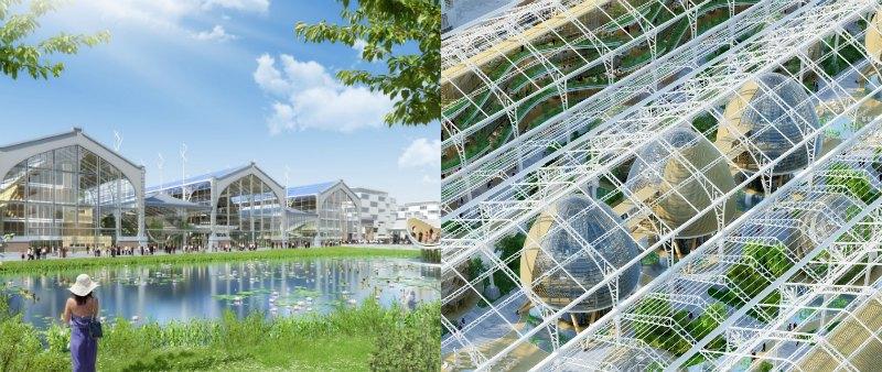 arquitectura, arquitecto, diseño, design, proyecto, Bruselas, Bélgica, residencial, ocio, terminal marítima, Vincent Callebaut Architectures, Tour & Taxis, bosque vertical, ecología, eco-campus, especios verdes, jardines, invernaderos, sostenible, sostenibilidad