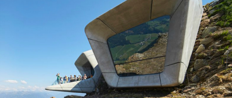 arquitectura, arquitecto, diseño, design, museo, Italia, Messner Mountain Museum, Zaha Hadid Architects, Sud Tirol, Alpes