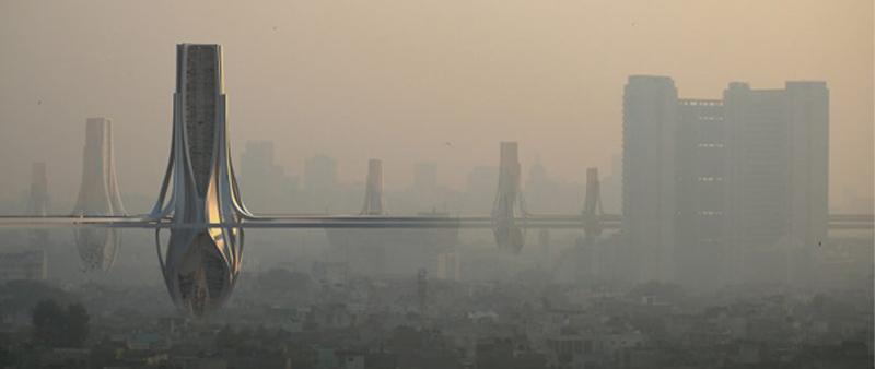 arquitectura, arquitecto, diseño, design, Znera, India, contaminación, aire, Delhi, World Architecture Festival, Proyecto Experimental Futuro2018, arquitectura y empresa, sostenibilidad, sustainable, polución