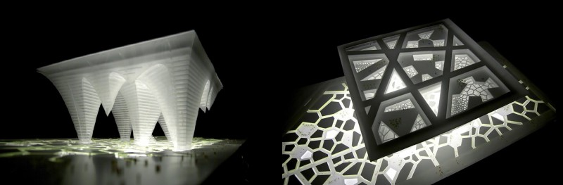 Cinco torres invertidas de Bawadi  BJARKE INGELS