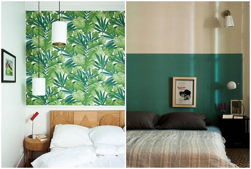 Dormitorios con cabeza ideas para decorar el cabecero - Cabeceros de papel pintado ...