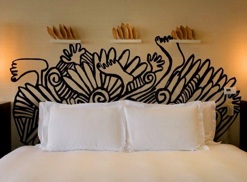 Dormitorios con cabeza ideas para decorar el cabecero de la cama arquitectura - Papel pintado cabecero cama ...