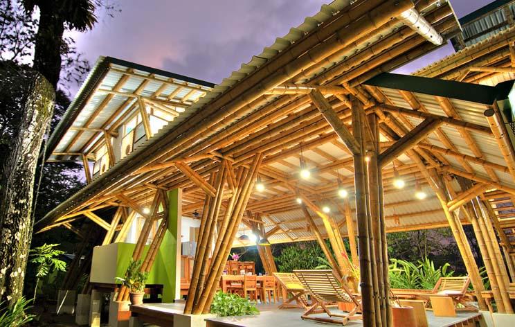 Estructura de bamb casa atrevida arquitectura for Vivero estructura