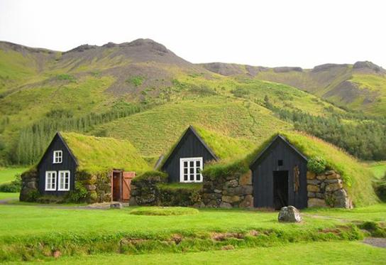 Casas c sped de islandia las primeras cubiertas verdes arquitectura - Casas en islandia ...