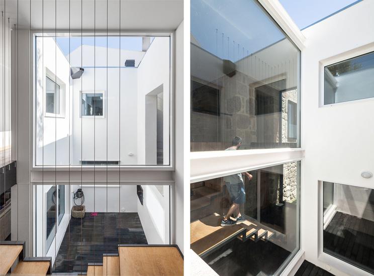 Pasado y futuro casa ja arquitectura for Casas con patio interior
