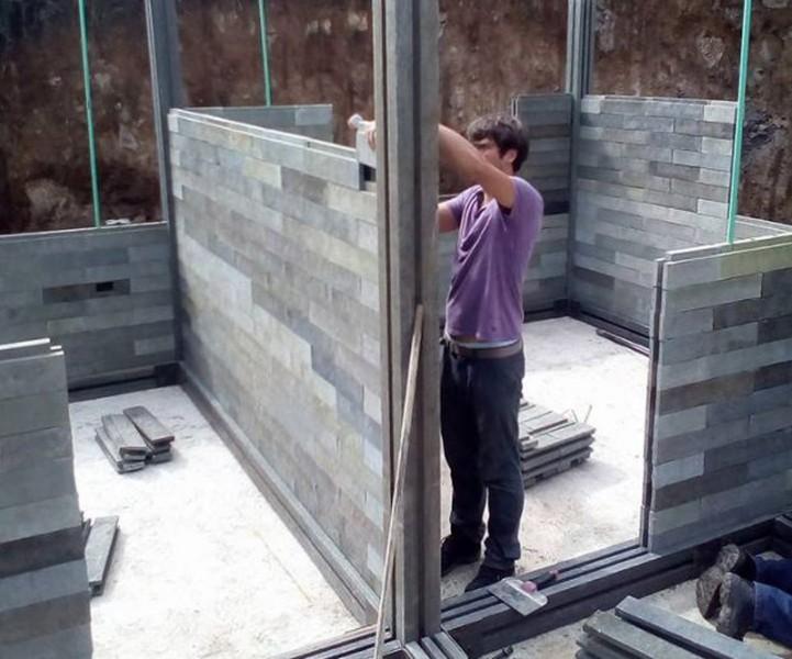 Casas con ladrillos de plástico reciclado en Colombia | Arquitectura