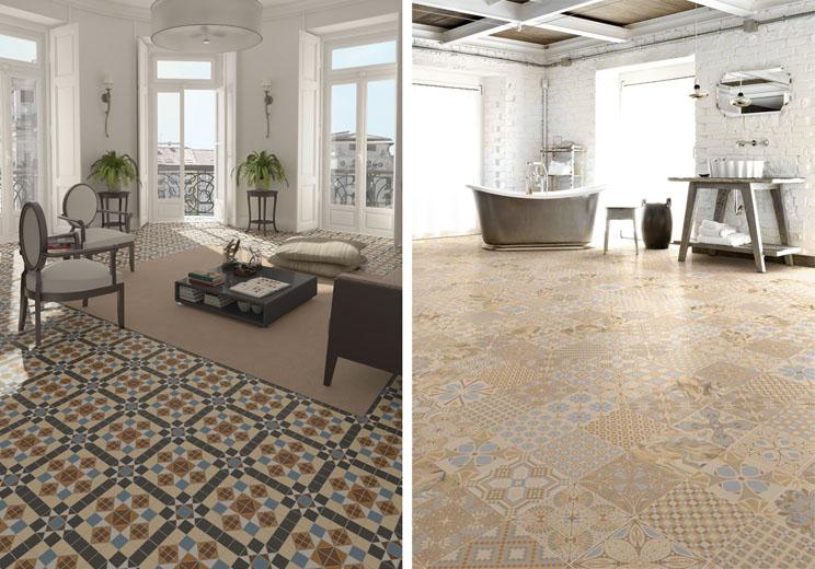 Pon un suelo decorado en tu hogar arquitectura - Suelos de gres catalogo ...
