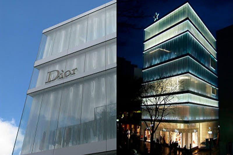 Arquitectura Edificio de Christian Dior en Tokio, Japón