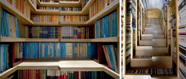 escalera biblioteca para los apasionados al papel y que necesitan cualquier rincn para guardar sus libros el colorido de los lomos es el complemento ideal