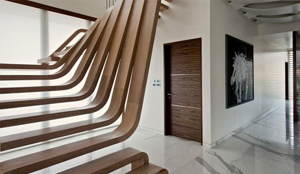 Las escaleras m s originales e innovadoras arquitectura for Escaleras de madera sencillas